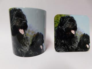 Bouvier des Flandres Dog Mug and Coaster Set