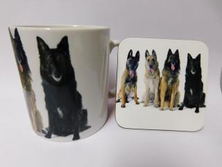 Belgian Shepherd Dog Mug and Coaster Set