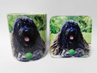 Bergamasco Dog Mug and Coaster Set