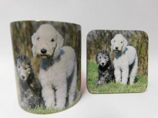 Bedlington Terrier Dog Mug and Coaster Set