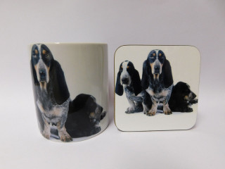 Basset Blue De Gascogne Dog Mug and Coaster Set
