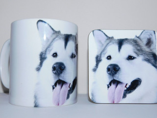 Alaskan Malamute Mug and Coaster Set