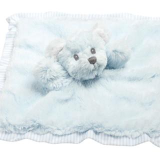 Blue Hug-a-Boo Bear Finger Puppet Blankie