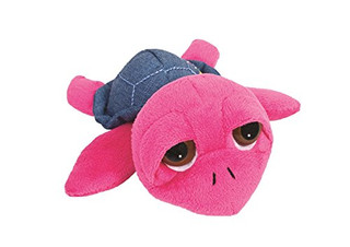 Suki Gifts Li'L Peepers Tropical Turtles Yuna Turtle Soft Boa Plush Toy (Small, Pink/ Blue)