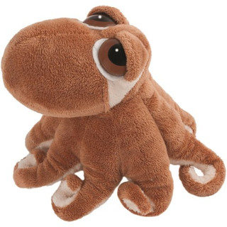 Suki Gifts Li'L Peepers Sealife Creatures Octavius Octopus Soft Boa Plush Toy (Brown/ White)