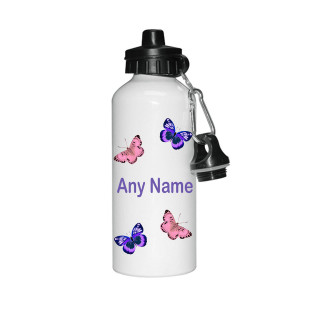 Butterfly Child's Personalised White Water Bottle