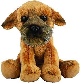 Border Terrier Dog Siting Cuddly Toy 12.7cm