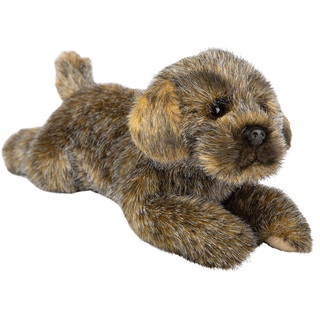 Realistic Border Terrier Laying Soft Toy, 30cm by Suki Gifts
