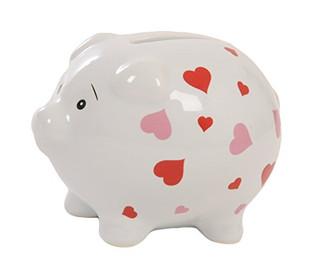 Suki Gifts Heart Piggy Bank