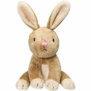 Baby Bobtail Bunny Rattle Plush Toy by Suki Gifts 14cm