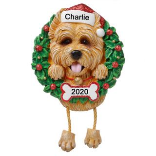 Personalised Cain Terrier  Christmas Decoration by Polarx