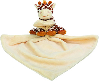 Jungle Friends Bing Bing Giraffe Rattle Blankie By Suki Gifts