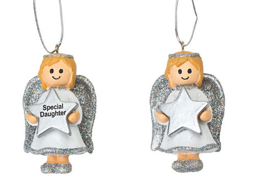 Angel Girl Silver Decoration Personalised *ANY NAME*