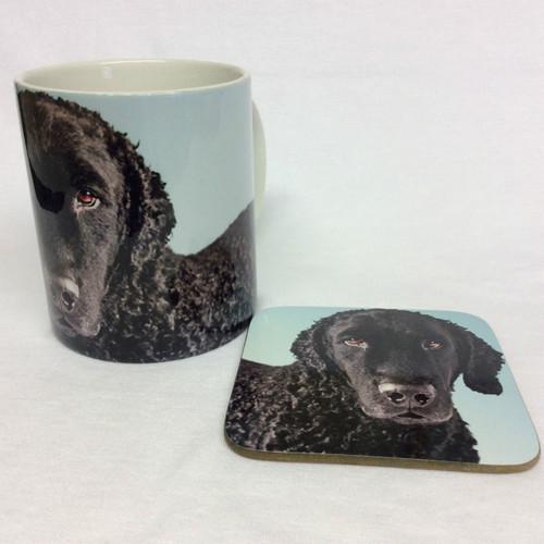 Curly Coated Retriever Mug and Coaster Set