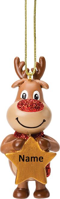 Reindeer Personalised Decoration by Suki