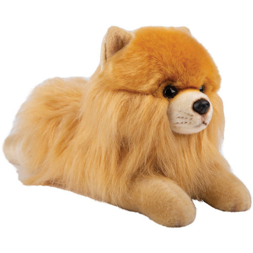 Realistic Pomeranian Laying Soft Toy, 30cm by Suki Gifts