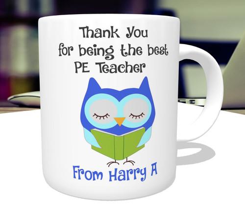 Personalised Thank You Best Teacher Mug Gift