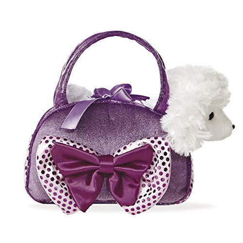 Aurora World 8-inch Fancy Pal Poodle with Bow (Purple)
