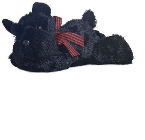 Aurora Lying Scotty Dog Soft Toy, 15 Centimeter
