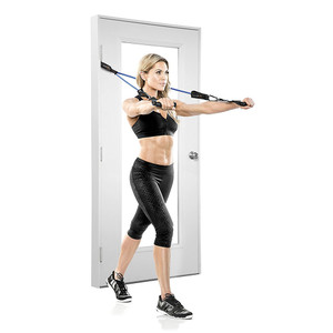 The Bionic Body door anchor will help you get your varied body resistance workout anywhere