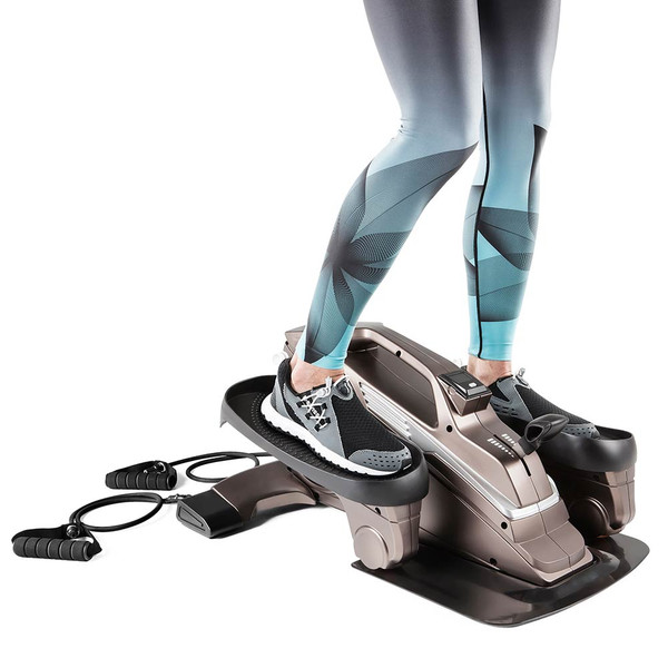Bionic Body Compact Elliptical Trainer with Resistance Tubes is Small and convenient, take it anywhere