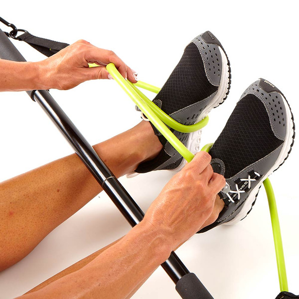 The Bionic Body BBEB-20 Exercise Bar is the perfect Resistance band accessory - Securing to your feet