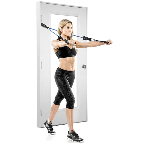 The Bionic Body Resistance Band Kit  includes a door anchor - get your varied body resistance workout anywhere