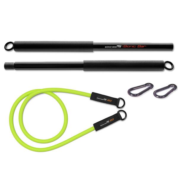 Bionic Body Training Kit w/ Exercise bar, Resistance Tube & Carabiner - BBKT-2020