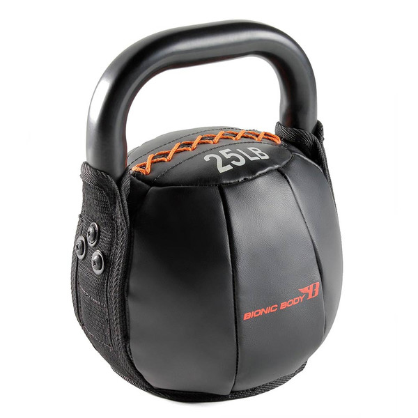 The 25 lbs. Bionic Body Kettle Bell is soft so you do not have to worry about getting hurt, it will optimize your HIIT conditioning workout!