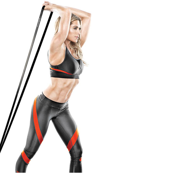 Bionic Body 20 lbs to 35 lbs Super Band in use for triceps by Kim Lyons