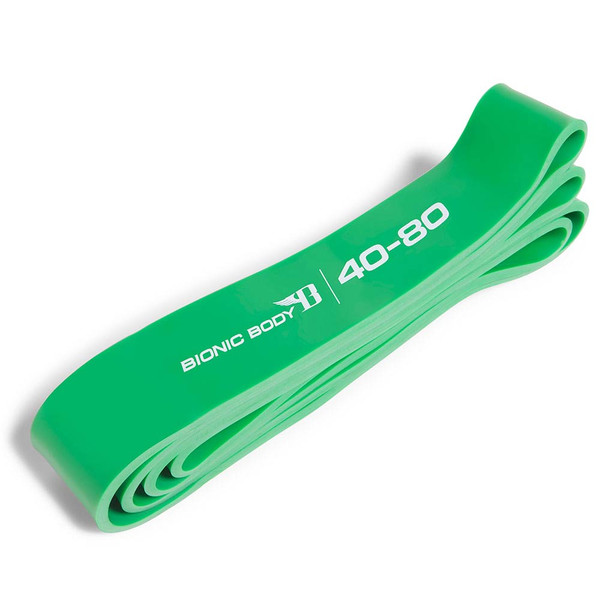 Green Bionic Body 40 lbs to 80 lbs Super Band outside of the package