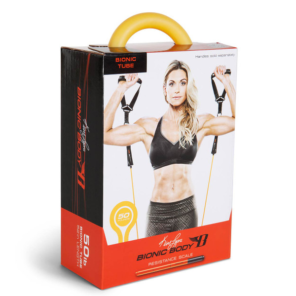 Bright Yellow Dependable Bionic Body 50 lb. Medium-Heavy Resistance Band In Retail Packaging