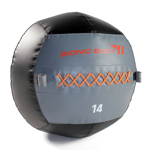 The Bionic Body 14 lb. Medicine Ball is Durable and long lasting through any type of workout