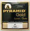 "Pyramid ""Gold"" Chrome Nickel Flatwound Bass Strings 50-110"