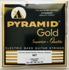 """Pyramid """"Gold"""" Chrome Nickel Flatwound Bass Strings; 5-String 45-126"""