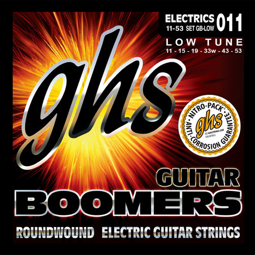 GHS Boomers Low Tune Electric Guitar Strings
