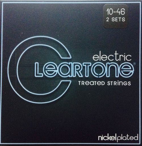Cleartone Nickel Plated Electric Guitar Strings - 10-46 Two-Pack