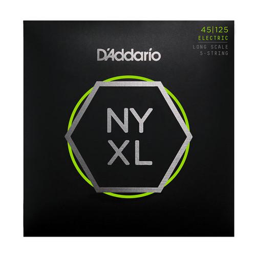 D'Addario NYXL Bass Guitar Strings 5-String set; 45-125
