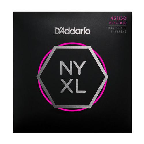 D'Addario NYXL Bass Guitar Strings 5-String set; 45-130