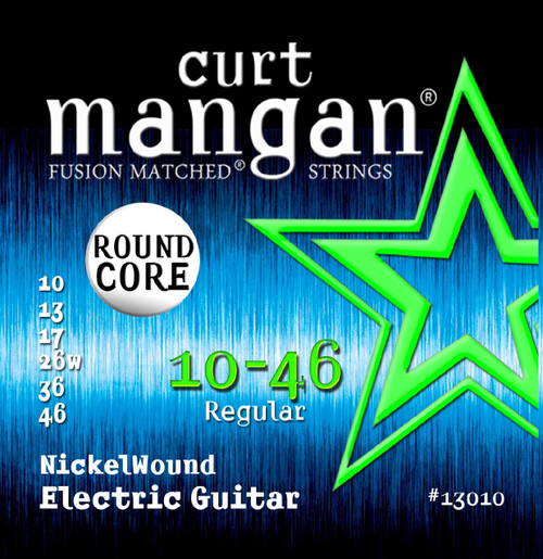 Curt Mangan Round Core Nickel Wound Electric Guitar Strings 10-46