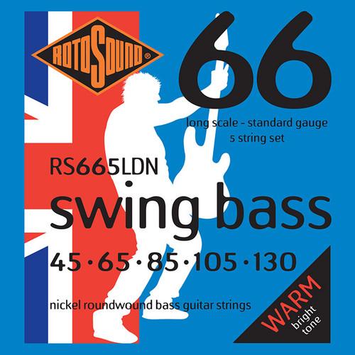 Rotosound RS665LDN Swing Bass Guitar Strings - Nickel 5-String 45-130