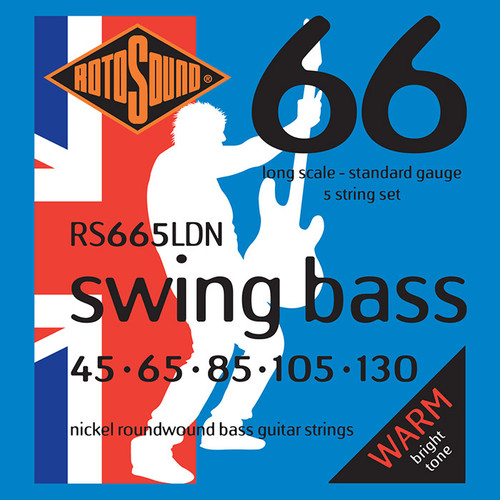 Rotosound RS665LDN Swing Bass Guitar Strings - Nickel 5-String 45-130