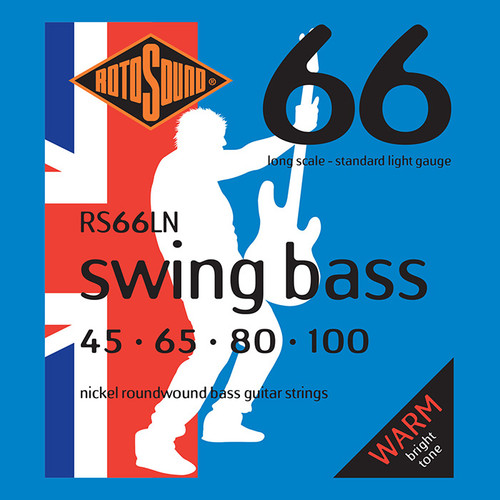 Rotosound RS66LN Swing Bass Guitar Strings - Nickel 45-100