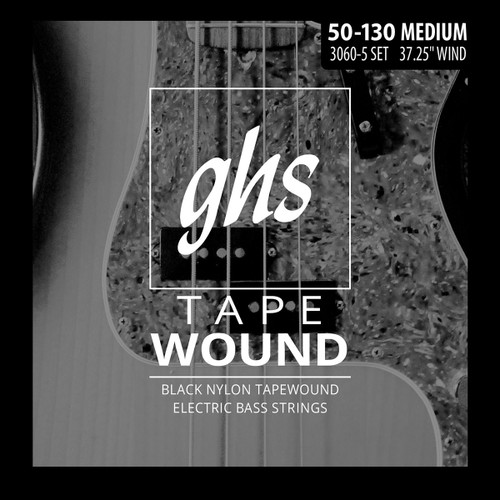 GHS Tape Wound Bass Guitar Strings 5-String 50-130