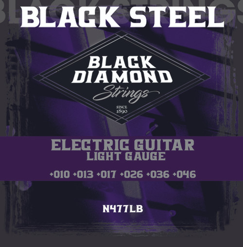 Black Diamond Black Coated Nickel Plated Electric Strings