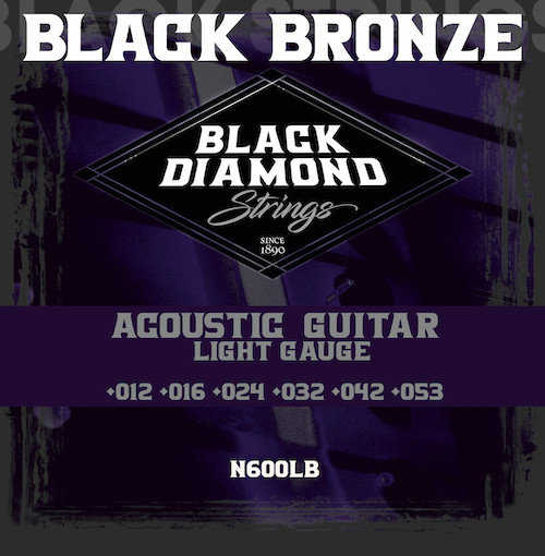 Black Diamond Black Coated Phosphor Bronze Acoustic Strings