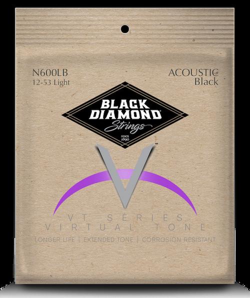 Black Diamond Black Coated Phosphor Bronze Acoustic Strings