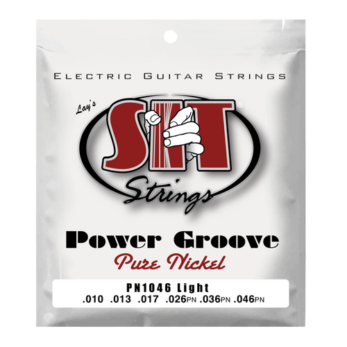 S.I.T Power Groove Pure Nickel Electric Guitar Strings