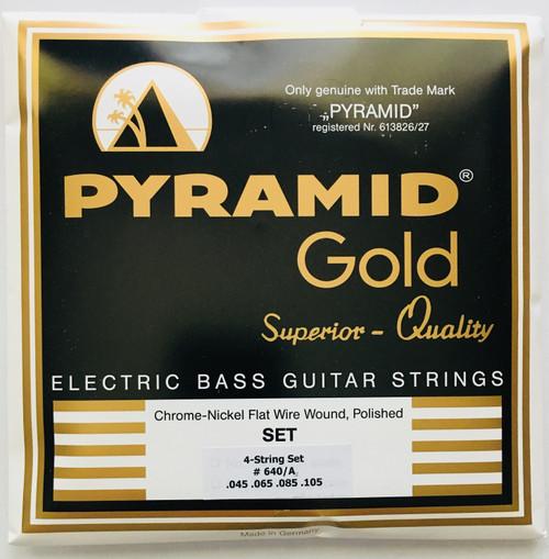 "Pyramid ""Gold"" Chrome Nickel Flatwound Bass Strings 45-105"