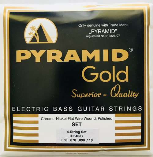 "Pyramid ""Gold"" Chrome Nickel Flatwound Bass Strings 50-110"